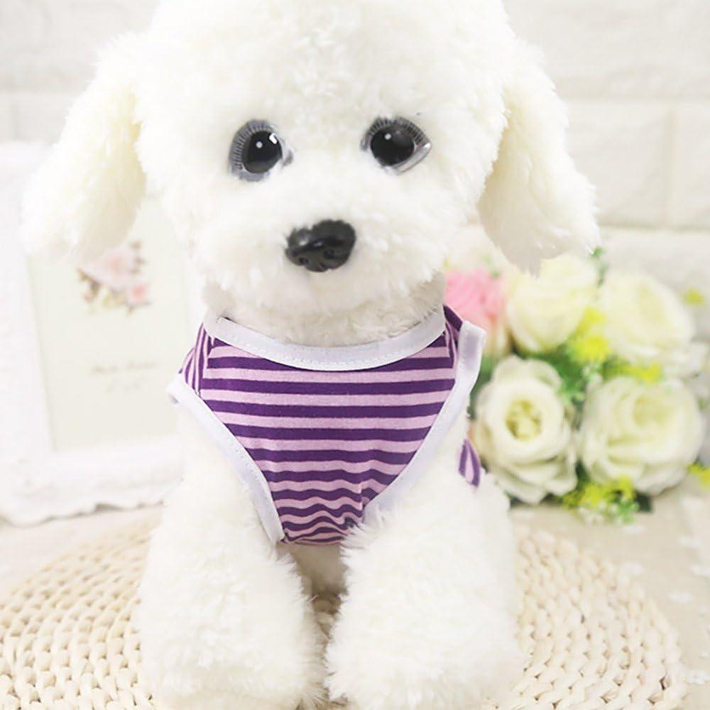 Haustier Gestreift Weste T Shirt Puppy Kost/üm Kleine mittlere Hund Pullover Hundemantel Hundejacke Welpen Katzen Chihuahua Teddy Bekleidung Niedlich Hundebekleidung