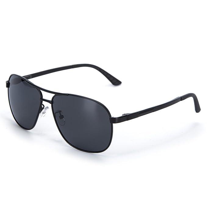 49d8eca3171 YJMILL 2018 New Men Best Polarized Sunglasses Glass Riding Fishing Sport  8046 (Black-Gray