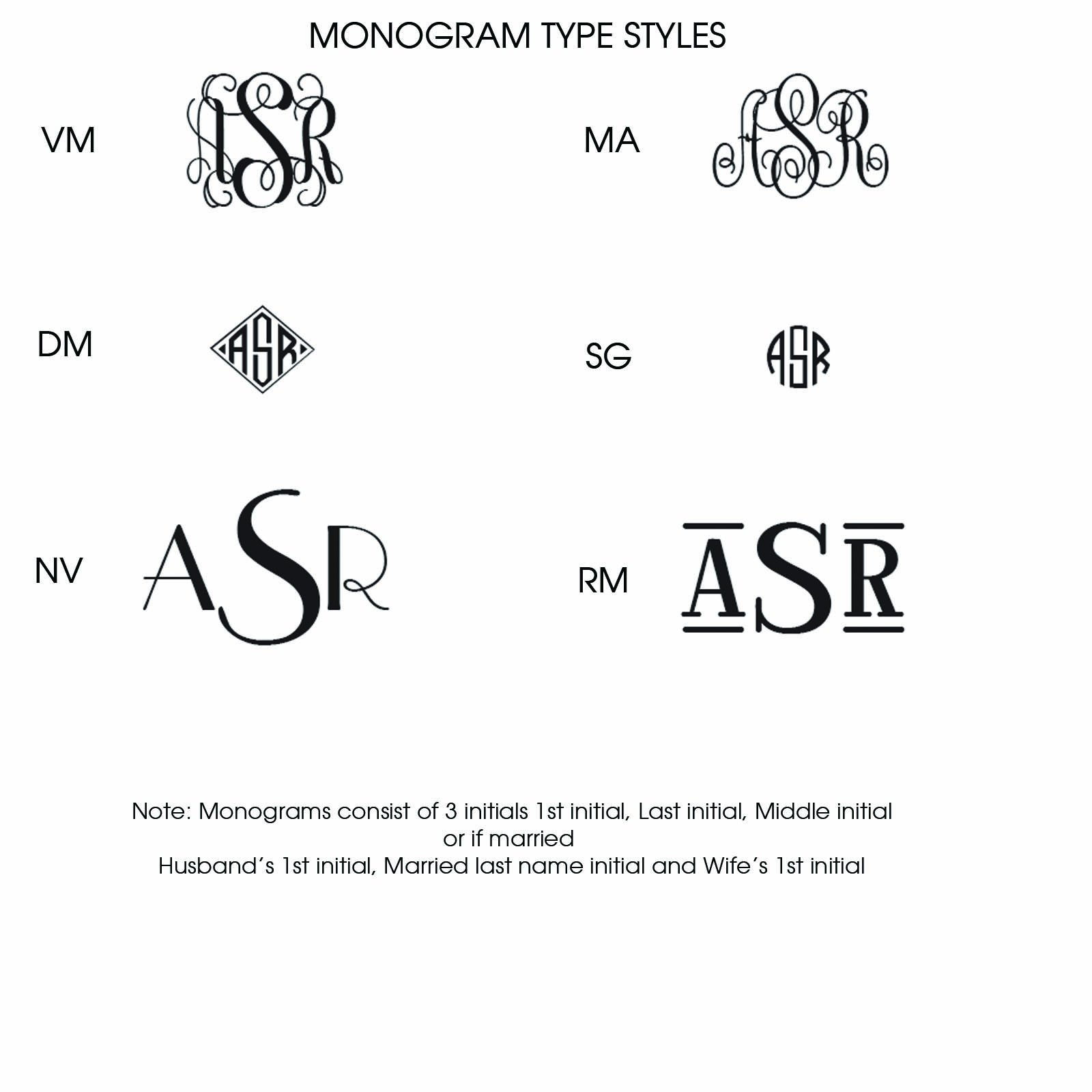 Hand Bordered Embossed Correspondence Cards -with Monogram - 3396 by American Stationery