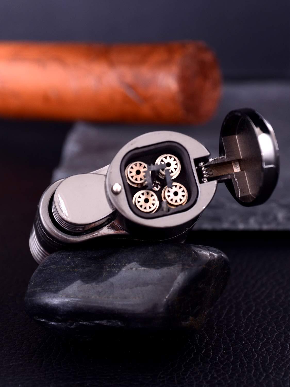 JCJOONY Sturmfeuerzeug,Jet Flammen Feuerzeug, Gas Feuerzeug, Turbo Flamme zigarrenfeuerzeug,Pfeifen feuerzeug, Zigarren Zigarrette feuerzeug Gasfeuerzeug Butan feuerzeug