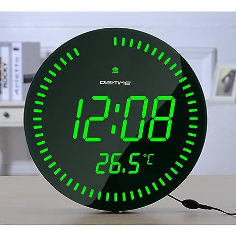 Pantalla grande grande 3d led – Reloj digital de mesa o pared reloj diseño moderno decoración