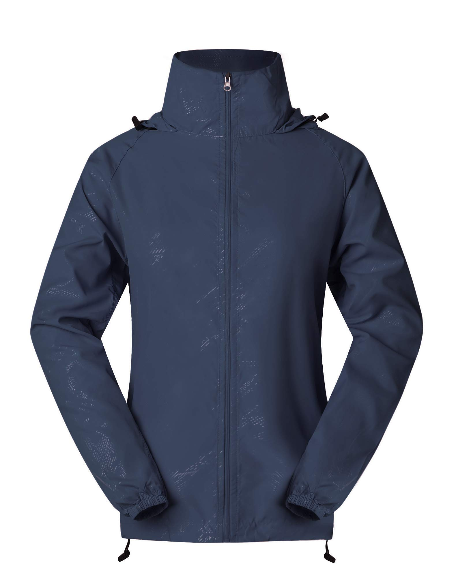 Cheering Spmor Women's Lightweight Jackets Waterproof Windbreaker Jacket UV Protect Running Coat S Navy