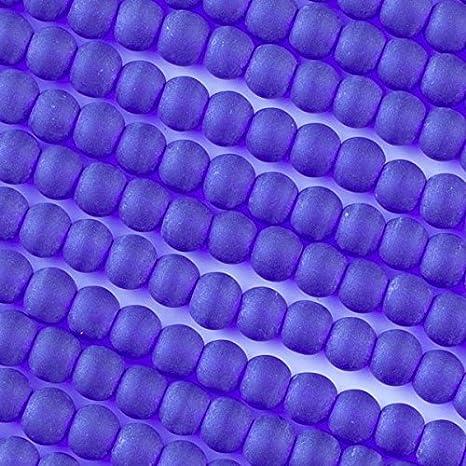 200 Tamaños Surtidos 4 mm 6 mm 8 mm 10 mm Perlas De Vidrio Azul Claro