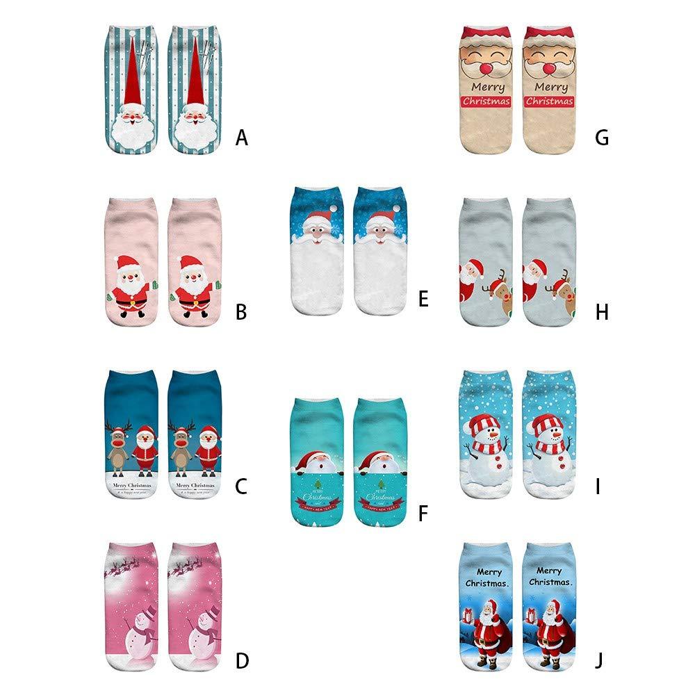 GzxtLTX Socks Cartoon Christmas 3D Pattern Printed Fancy Christmas Gifts
