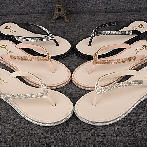 Zapatillas Angel Mujer de Sandalias beauty Imitaci de Diamantes love Planas para SEXgrSqw