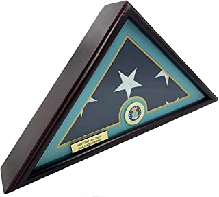 product image for 5x9 Burial/Funeral/Veteran Flag Elegant Display Case, Solid Wood, Cherry Finish, Flat Base (5x9, Air Force)