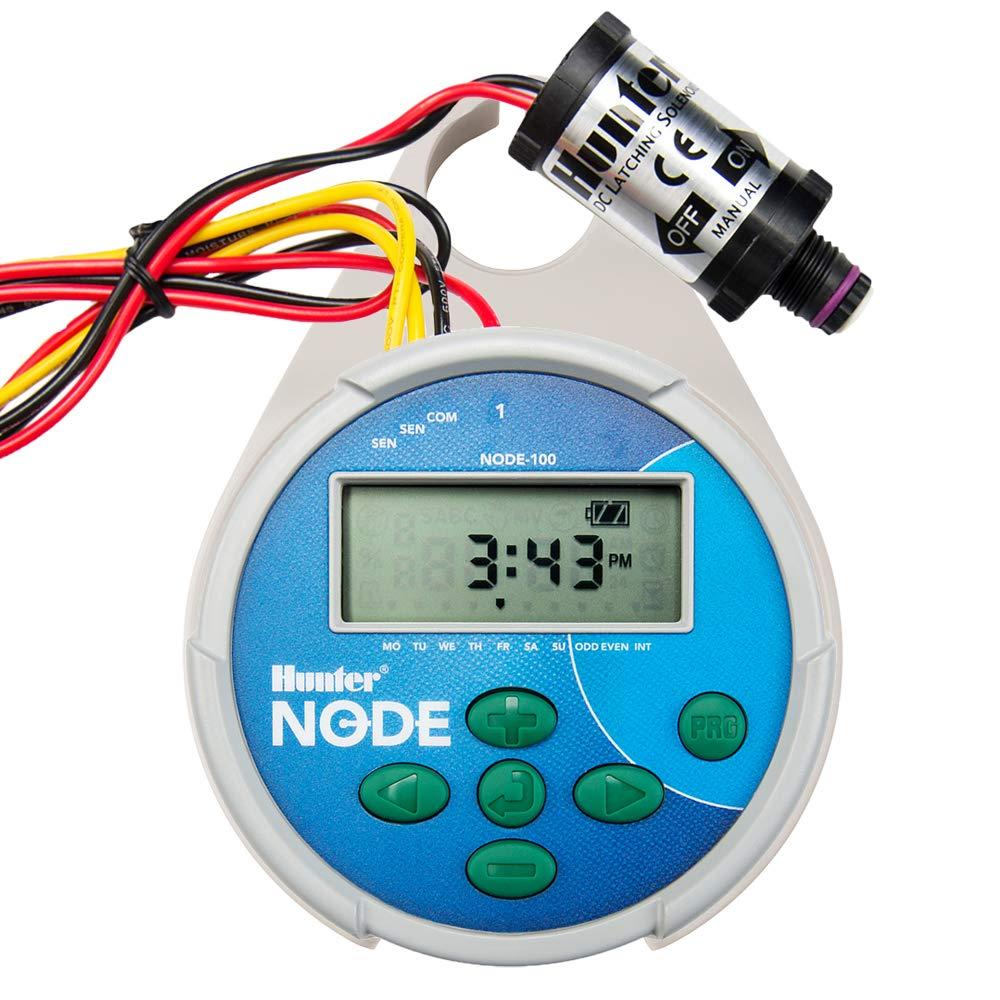 Hunter Sprinkler NODE100 Node Single Station Controller with DC Latching Solenoid by Hunter