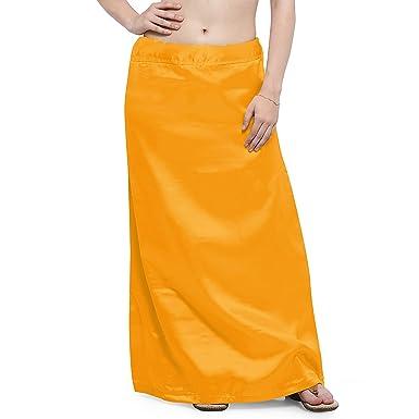 IFH Apparel Falda interior de seda de satén color amarillo indio ...