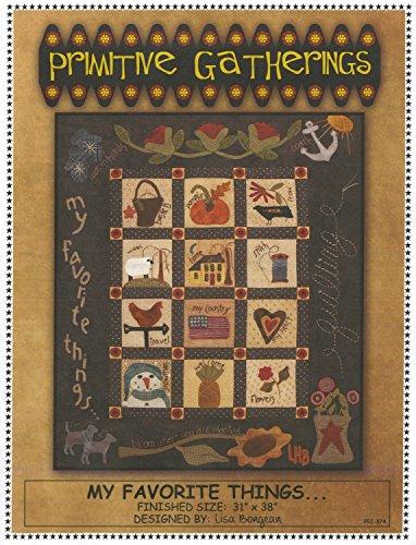 My Favorite Things Wool Applique Quilt Pattern by Lisa Bongean from Primitive Gatherings 31
