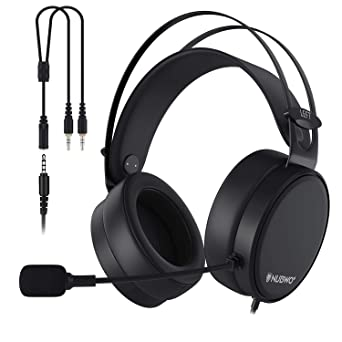 AOGUERBE Auriculares Gaming , PS4 Auricular con cable Cascos Gaming Headset con Bass Surround Cancelacion ruido