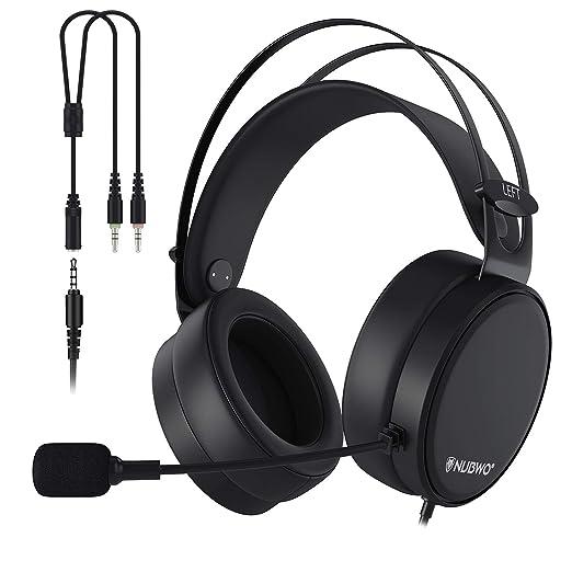 AOGUERBE Auriculares Gaming , PS4 Auricular con cable Cascos Gaming Headset con Bass Surround Cancelacion ruido