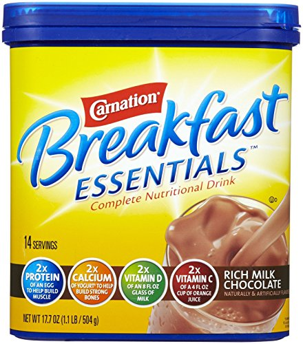 Instant Breakfast Chocolate (Carnation Instant Breakfast Powder, Rich Milk Chocolate, 17.7)