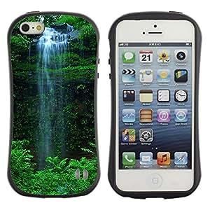 Suave TPU GEL Carcasa Funda Silicona Blando Estuche Caso de protección (para) Apple Iphone 5 / 5S / CECELL Phone case / / Waterfall Green /