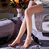 1 Pair Silicone Life Size Female Mannequin Foot with Knee Display Fetish Jewerly Sandal Shoe Sock