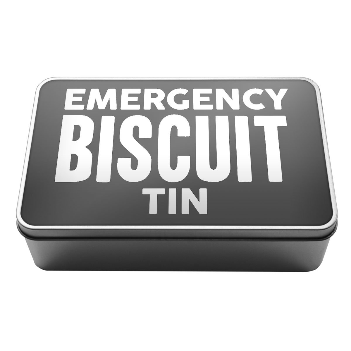 Duke Gifts Grey Emergency Biscuit Tin Metal Storage Tin Box A024