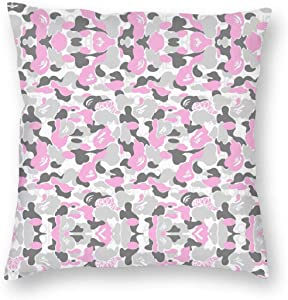 """chenyu Bape,Camouflage Square Throw Pillow Covers with Hidden Zipper Home Sofa Cushion Decorative Pillowcases 24""""x24"""""""