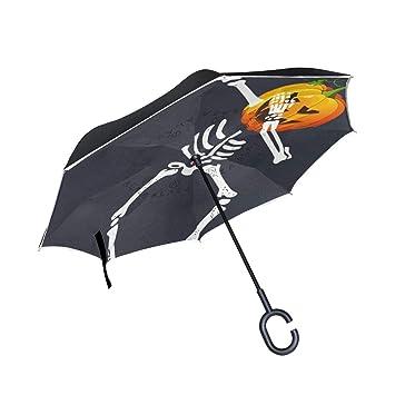 A lie Paraguas invertido con diseño de Calabaza y Calabaza, diseño ...