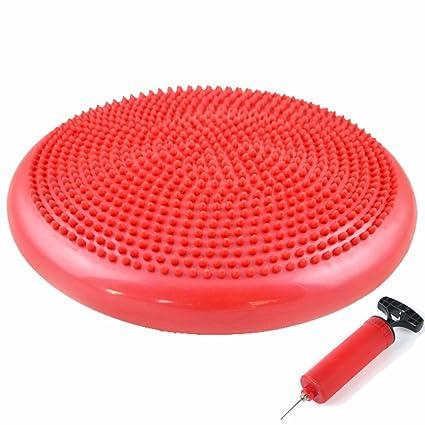 Ejercicio Core equilibrio disco cojín de aire para practicar estabilidad Wobble Yoga Fitness equilibrio pelota animada aire asiento discos para niños ...