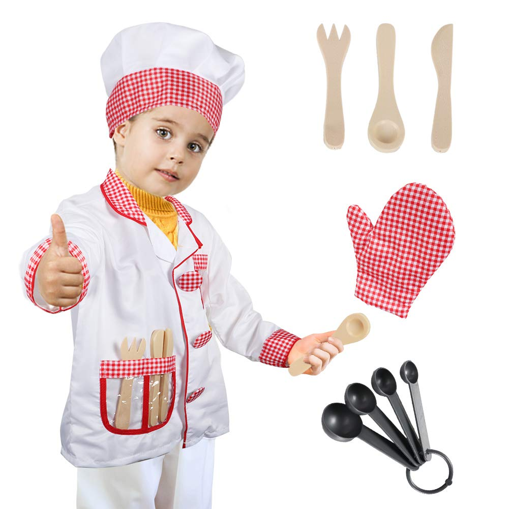 Dissytoys Chef Role Play Costume Cooking Dress up Set for Kids Boys Gilrs by Dissytoys