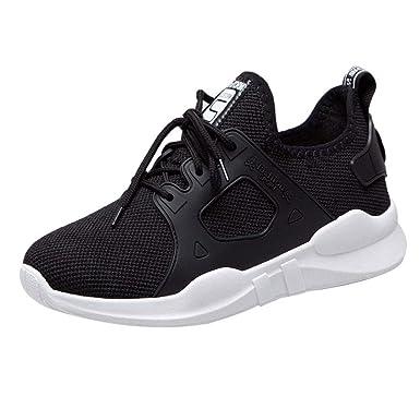 Scarpe Donna da Ginnastica Running Sports Sneaker da Fitness Allacciare  Maglia Nero Blu Grigio Bianco 36-40 da UOMOGO  Amazon.it  Abbigliamento 048ddf18b73