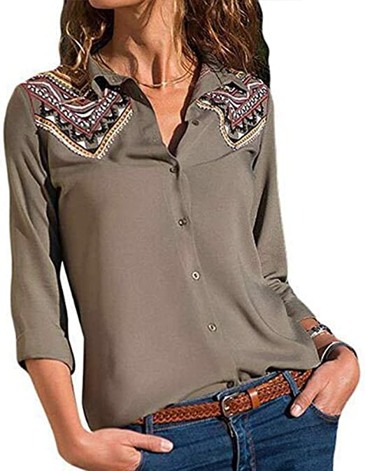 XUANOU Women High Collar Long Style Slim Pullover T Shirt Long Sleeve Blouse