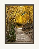 Graduation Gift, Aspen Path Photo with ''Life is Traveling the Path'' Verse, 8x10 Matted. Special Gifts for Graduation. Great Unique Gifts for Graduates.