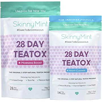 SkinnyMint 28 Day Ultimate Teatox Detox Tea
