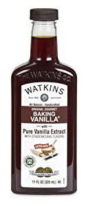 Watkins All Natural Original Gourmet Baking Vanilla, with Pure Vanilla Extract, 11 oz. Bottle, 1 Count (Packaging May Vary)