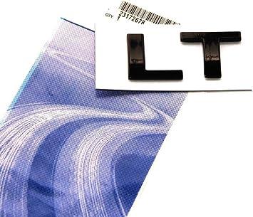 1x GENUINE Chrome LT Nameplate Letter Emblem Badge Silverado Chevrolet Alloy FU