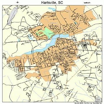 Amazon.com: Grande Calle y mapa de carreteras de Hartsville ...