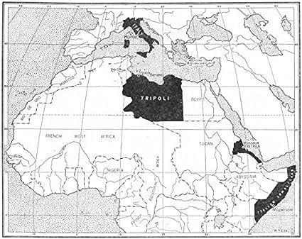 1948 World Map.Amazon Com World The Italian Empire In 1914 1948 Old Map