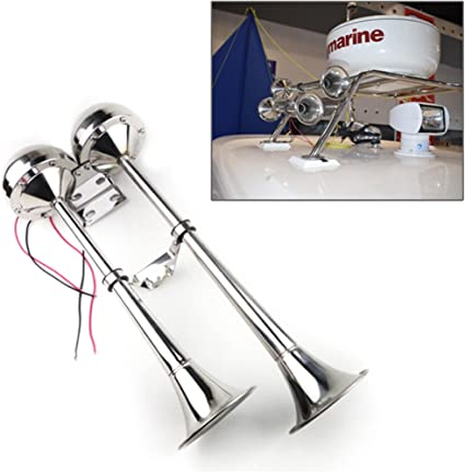 12V Marine Electric Single Horn Trumpet For Boat Yacht 100/% Stainless Steel