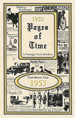 Seek Publishing 1953 Pages of Time Kardlet (PT1953) (Corporate Birthday Gifts)