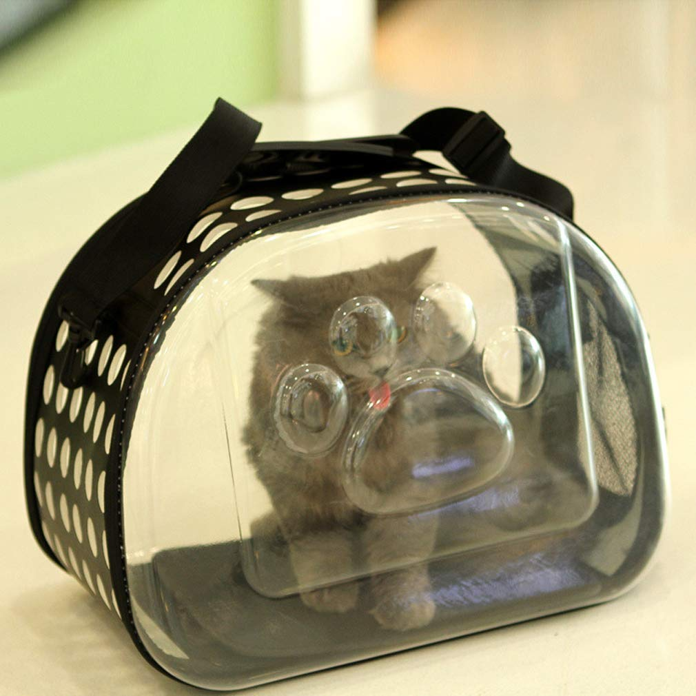Black Transparent Cat Bag Pet Out Bag Pet Backpack Cat Dog Universal Transparent Folding Out Pet Carrier Travel Bag Yellow Fruit Green