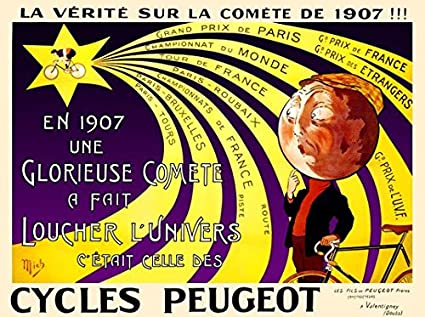Amazon com: Cycles Peugeot Vintage Bicycle Poster Print (11