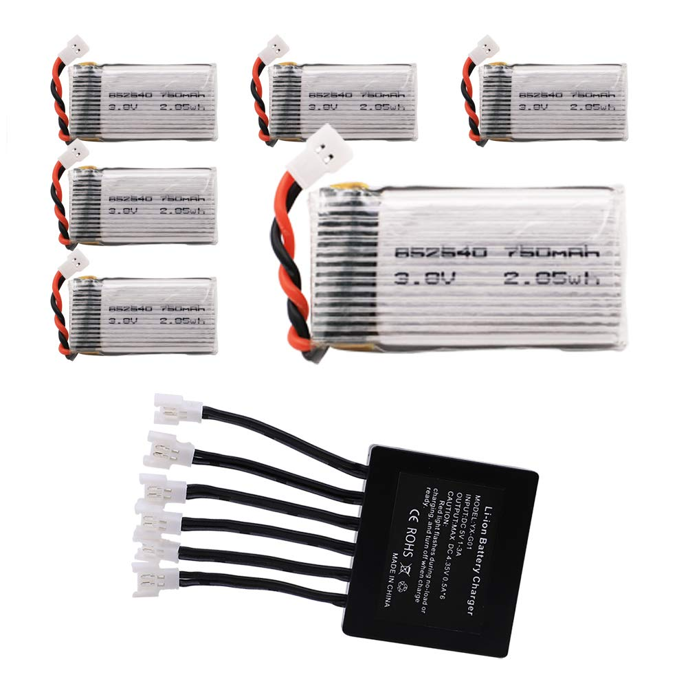 BTG 3.8V 750mAh Battery and X6 Charger for Beginners X708W UFO 3000 398 Halo 3000 Haktoys HAK905 GoolRC T32 T5W H42 UDI U45 Syma X15W X5SW X5C-1 X5SC-1 M68R Drone