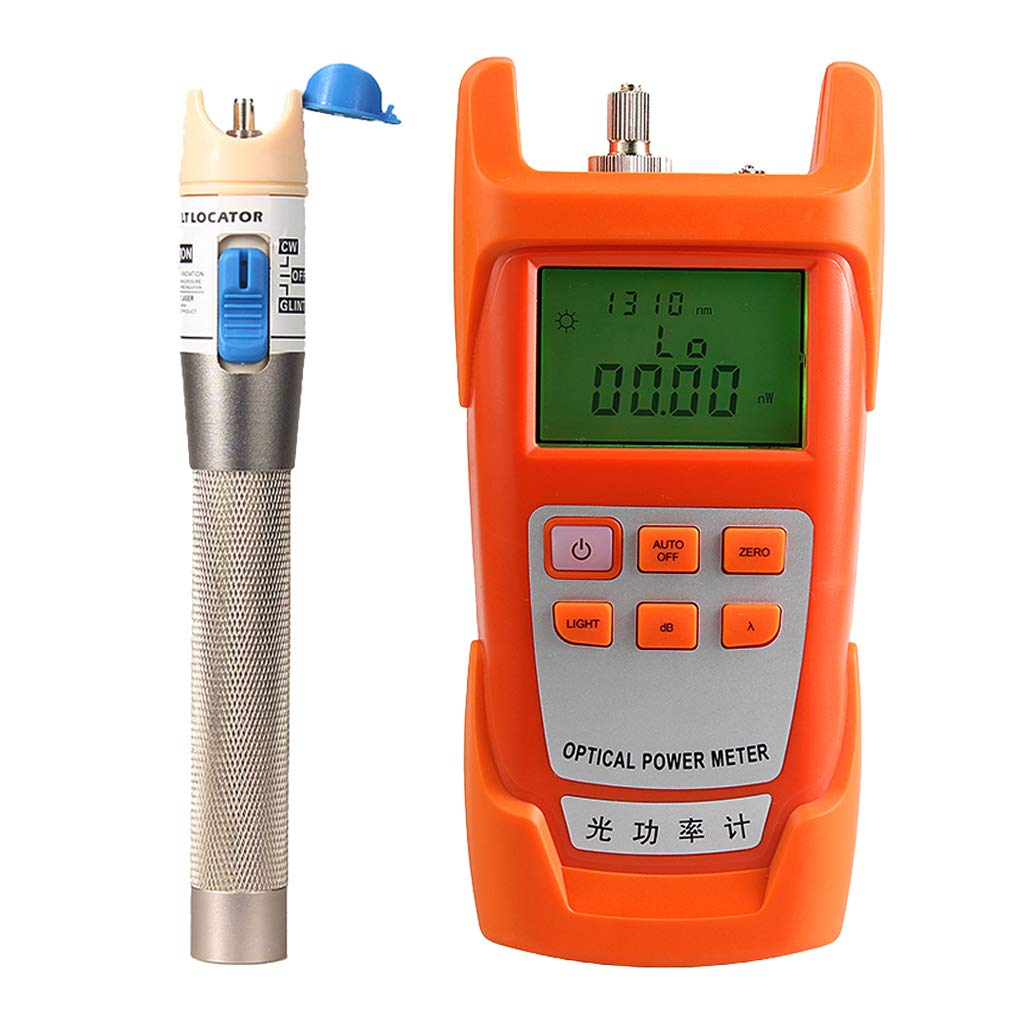 Prettyia 1Set Fiber Optic Cable Tester Optical Power Meter with Sc & Fc Connector Fiber Tester +1mW Visual Fault Locator for CATV Test,CCTV Test by Prettyia (Image #1)