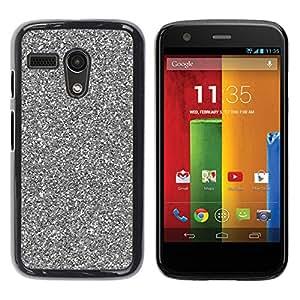 Caucho caso de Shell duro de la cubierta de accesorios de protección BY RAYDREAMMM - Motorola Moto G 1 1ST Gen I X1032 - Silver Sparkling Xmas Christmas