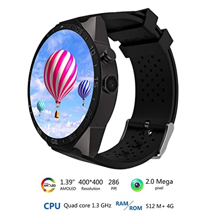 Rubility®KW88 Bluetooth Smartwatch con 1.41 pulgadas 3G MTK6580 ...