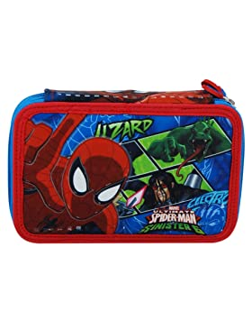 Estuche Escolar 3 compartimentos Spiderman: Amazon.es ...