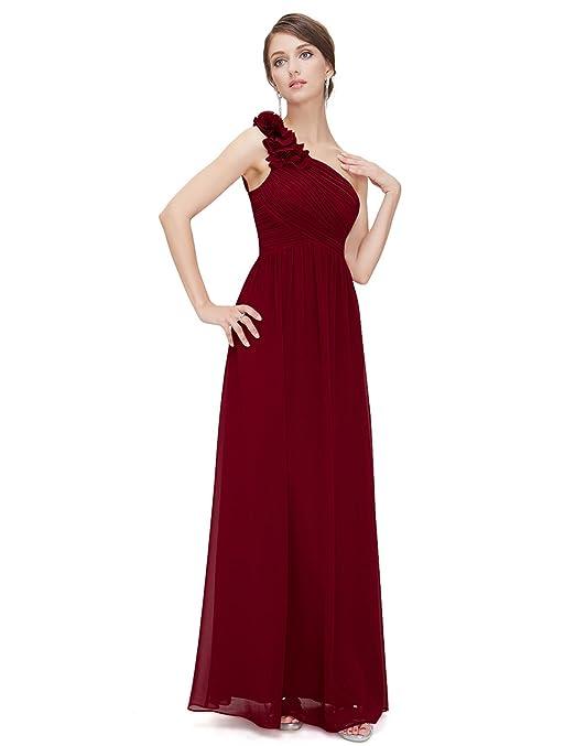 e9bce49b08 Ever-Pretty Flower One Shoulder Long Bridesmaids Evening Party Dress 08237