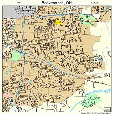 Amazon.com: Large Street & Road Map of Beavercreek, Ohio OH ... on map of of ohio, large maps of ohio with rivers, travel map of ohio, business map of ohio, general map of ohio, printable road map of ohio, transportation map of ohio, military map of ohio, reference map of ohio,