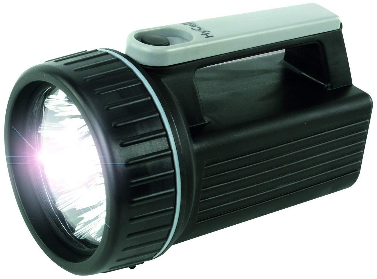 Projecteur portatif ANSMANN HyCell HS9 LED // /à piles avec 9 LEDs et une dur/ée d/éclairage de 150h // Lampe avec r/éflecteur le travail etc. latelier le jardin id/éale pour le camping le garage