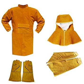 Dovewill Welding Coat Protective Apron Apparel Safety Heat Insulation Clothing Kit - - Amazon.com
