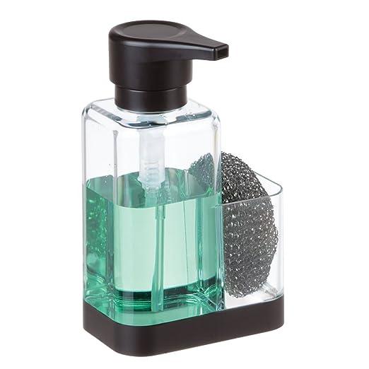 mDesign Dosificador de jabón con Soporte para Esponja ...
