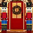 Jolik Christmas Nutcracker Banner Decorations Outdoor - 6.2ft Solider Nutcracker Christmas Banner for Front Door Yard Porch Garden Indoor Kids Party