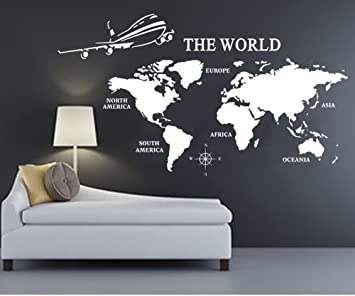 Extra large world map of earth wall decal vinyl art wall sticker extra large world map of earth wall decal vinyl art wall sticker home office dcor gumiabroncs Images