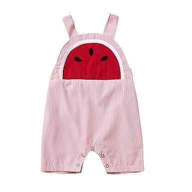Chanjywe Bebé Pijama Niños Pelele de Algodón Body Manga Corta ...