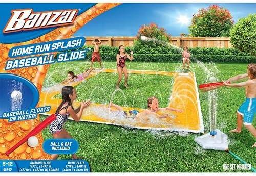 BANZAI 14ft x 14ft Homerun Splash Baseball Slide 1