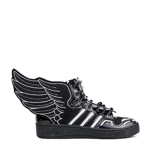 new product 5e311 7e8fb adidas Jeremy Scott Alas de Malla 2.0 para Hombre en Negro Blanco por, Negro  (Negro Blanco), 9,5 D(M) US  Amazon.es  Zapatos y complementos